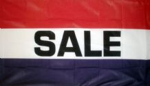 SALE (RED WHITE & BLUE) - 5 X 3 FLAG